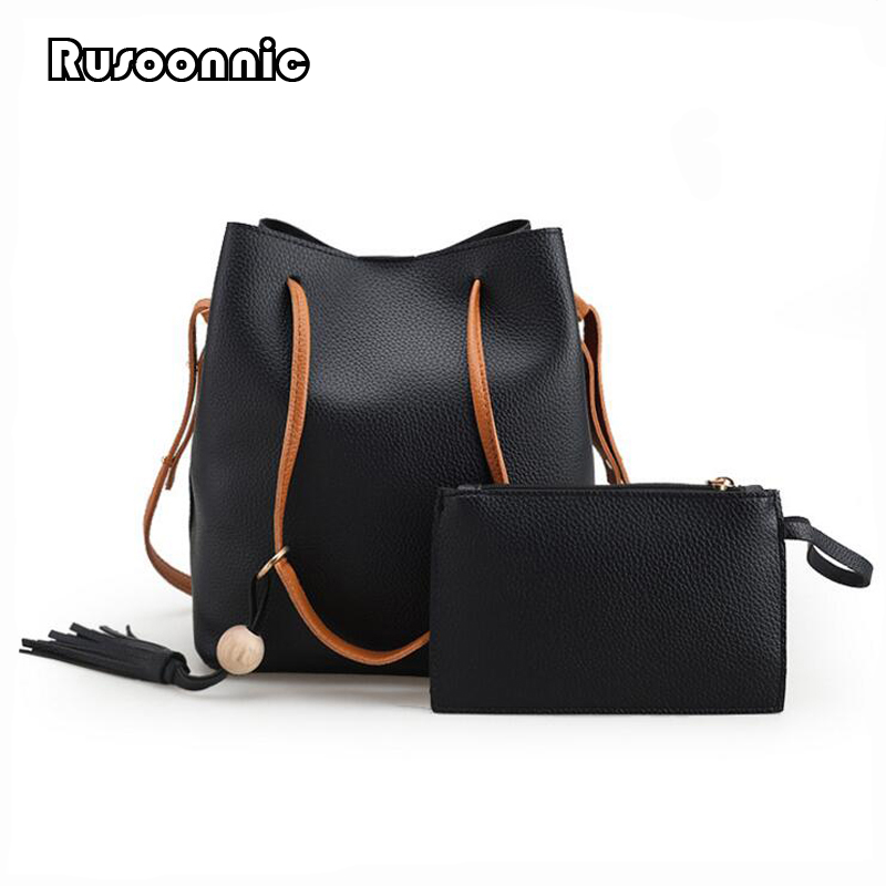 Bucket Bag Women Tassel Shoulder Bag Messenger Bags Feminina Bolsas Handbag Bolsa Mochila Women Leather Handbags sac a main shivaki shap 3010r