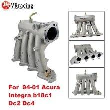 VR-для b18c1 алюминий 70 мм литой воздухозаборный коллектор для 94-01 Acura Integra Dc2 Dc4 VR-IM43-CA