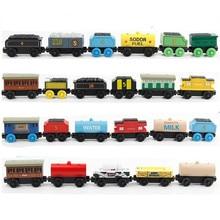 EDWONE деревянная железная дорога магнитный поезд дерево Teder рождественские автомобильные аксессуары игрушка для детей подходит дерево Biro треки подарки