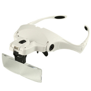 Free Shipping Hot selling Headhand Led Lamp With Magnifier for makeup/tattoo/grafting eyelash