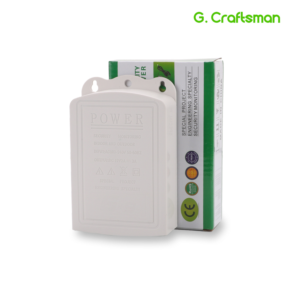 DC12V 2A AC 100V-240V Converter Outdoor Adapter 2000mA Waterproof Power Supply Plug 5.5mm X 2.1mm CCTV IP Camera A02 G.Craftsman
