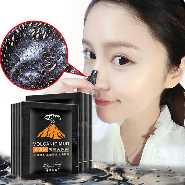 1 piezas. vende la cabeza negra de barro volcánico elimina las máscaras faciales limpieza profunda purificación de la cáscara de la cara negra Nud