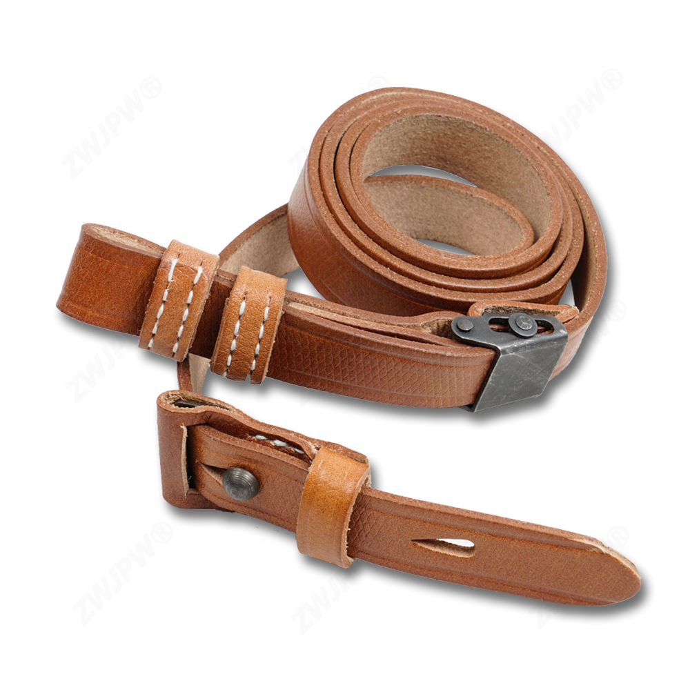 WWII WW2 Army Military Type 98K Gun Strap Real Leather Hunting Sling Brown Hiqh Quality DE