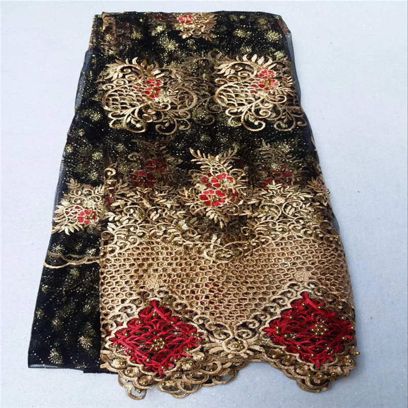 New 2018 style fashion good quality Beaded Embroidery Fabric black embroidery soft Tulle Lace French Net TulleNew 2018 style fashion good quality Beaded Embroidery Fabric black embroidery soft Tulle Lace French Net Tulle