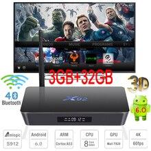 3GB RAM 32GB TV Box X92 Amlogic S912 Octa Core Android 6.0 Smart Mini PC 4K 3D Media Player Bluetooth 4.0 5.8G Dual Wifi 1000M