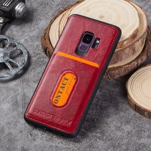 Image 5 - Case Voor Galaxy S9 Case Verontruste Lederen Cover Hard Bescherming Business Capas Voor Samsung S9 Shockproof Back Cover