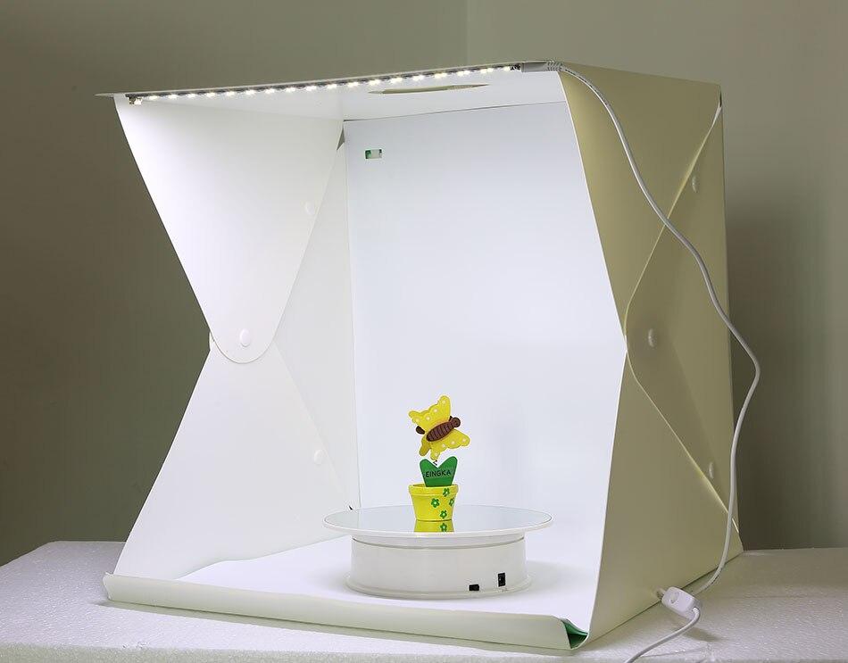 Pequeño tamaño grande plegable Lightbox fotografía estudio Softbox LED luz suave FONDO DE foto Kit de caja de luz tipo de botón