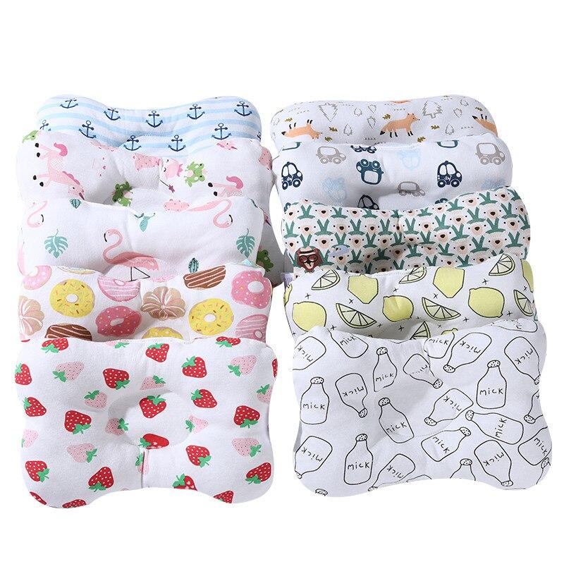 Almohada bebé prevenir almohadas planas contra el rollo de cabeza de cuello