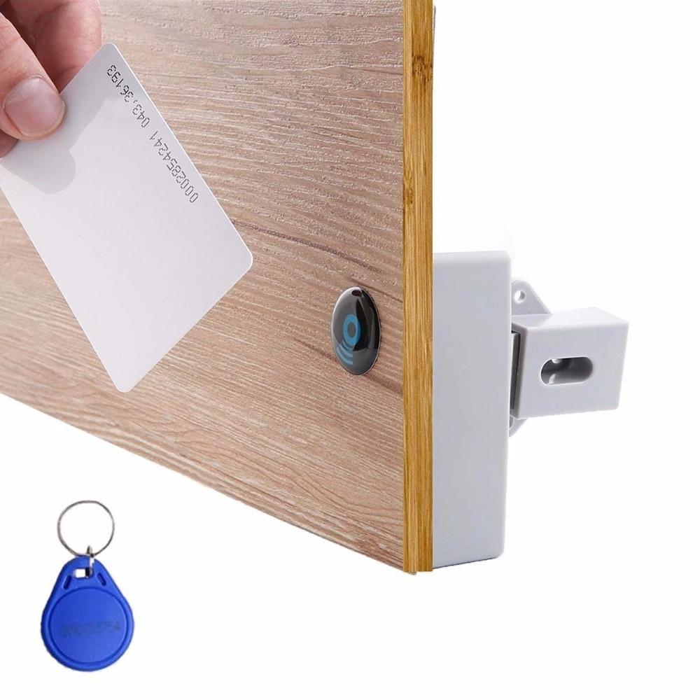 купить IC Card Sensor Digital RFID Drawer Card Lock DIY Electronic Invisible Hidden RFID Cabinet Lock онлайн