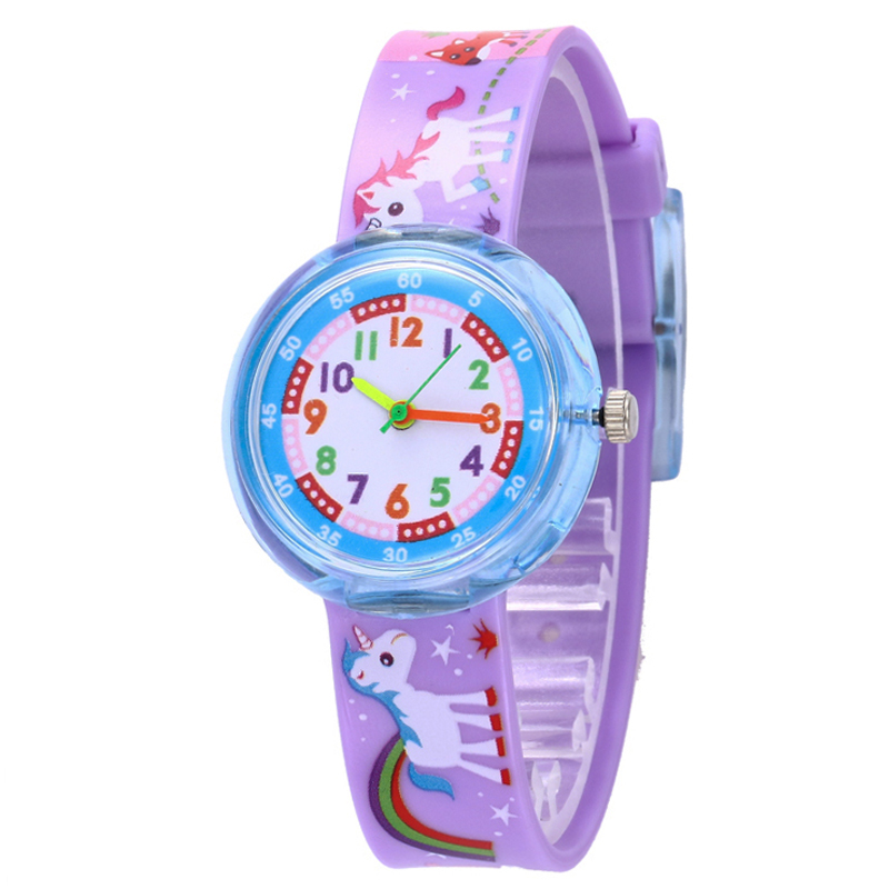 11 Designs Christmas Gift Cute Unicorn Girl Watch Children Fashion Watch SportS Jelly Cartoon New Boy Watch