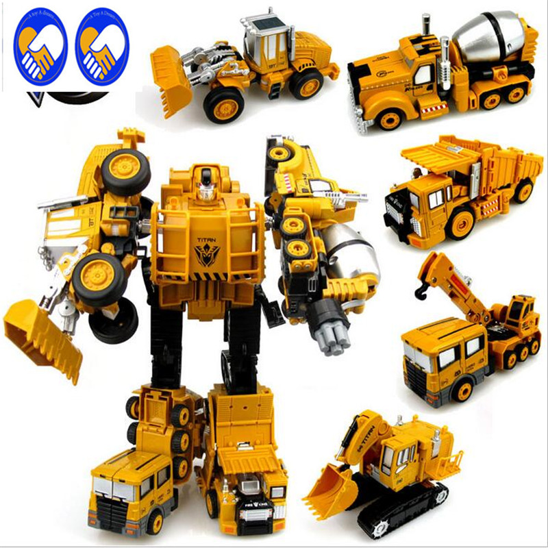 A Toy A Dream Transformation Robot Car Metal Alloy Engineering Construction Vehicle Truck Assembly Deformation Toy jim davis business transformation a roadmap for maximizing organizational insights