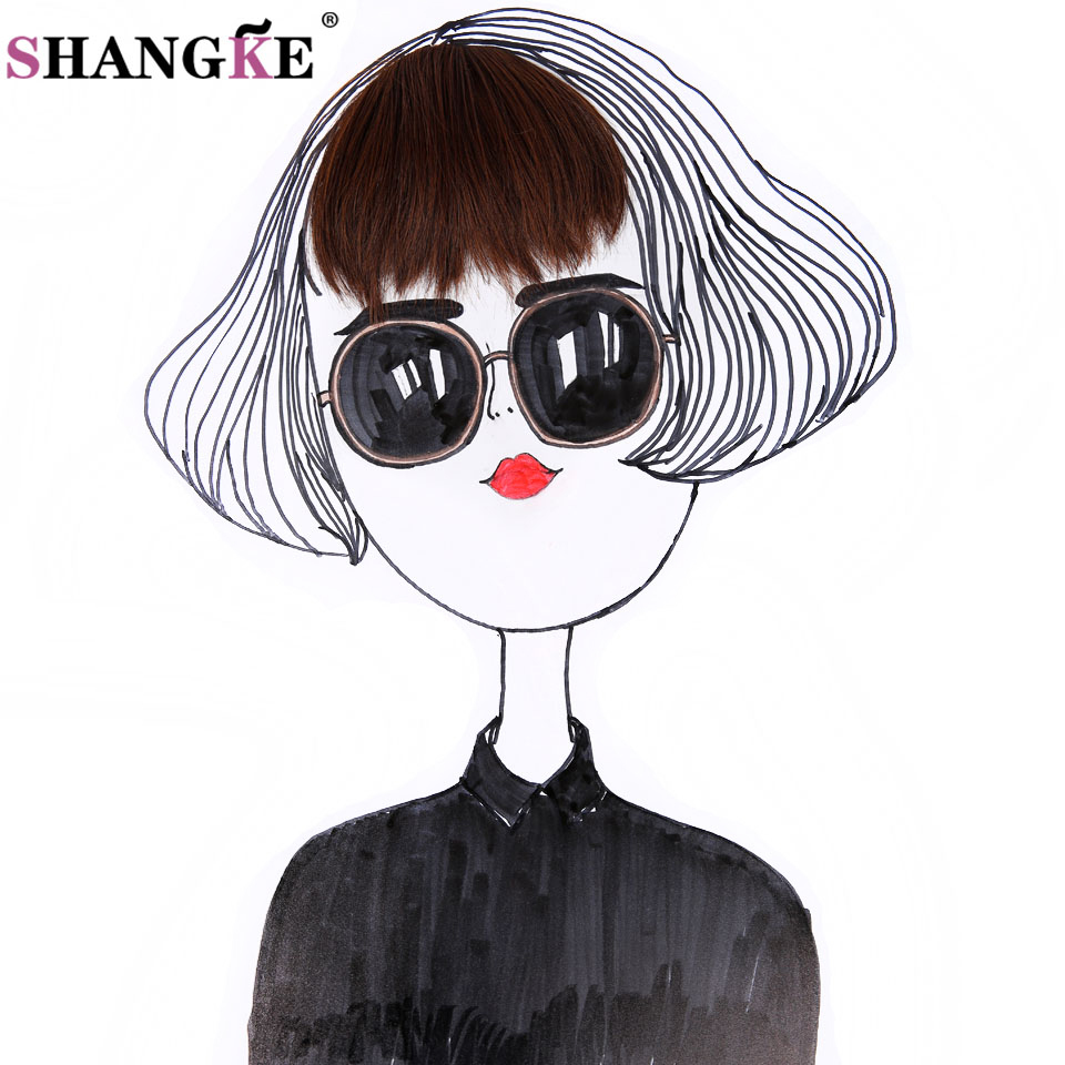 SHANGKE Short Fake Hair Bangs Heat Resistant Synthetic Hairpieces Clip In Hair Extensions Women Hair Hairstyles