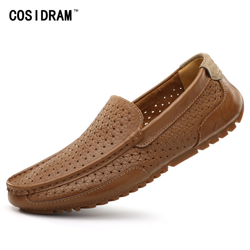 COSIDRAM Verano Holgazanes Hombres Respirables Outs Huecos Zapatos Inferiores Su
