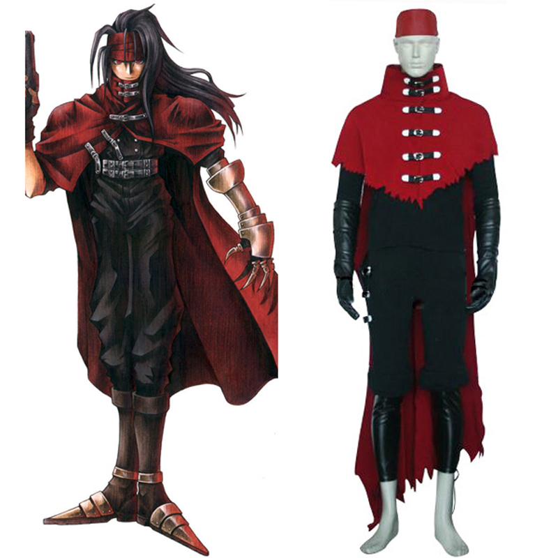 Final Fantasy VII Vincent Valentine Cosplay Uniform Suit Full Set Men's Halloween Costumes Custom-made Free Shipping