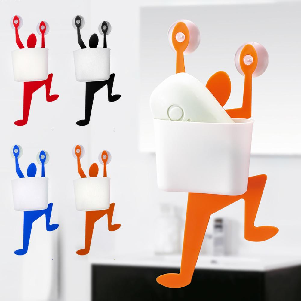 Superieur 1pc Soap Dish Box Funny Climber Soap Holder Wall Mount Suction Hooks  Toothbrush Holder Bathroom Accessories