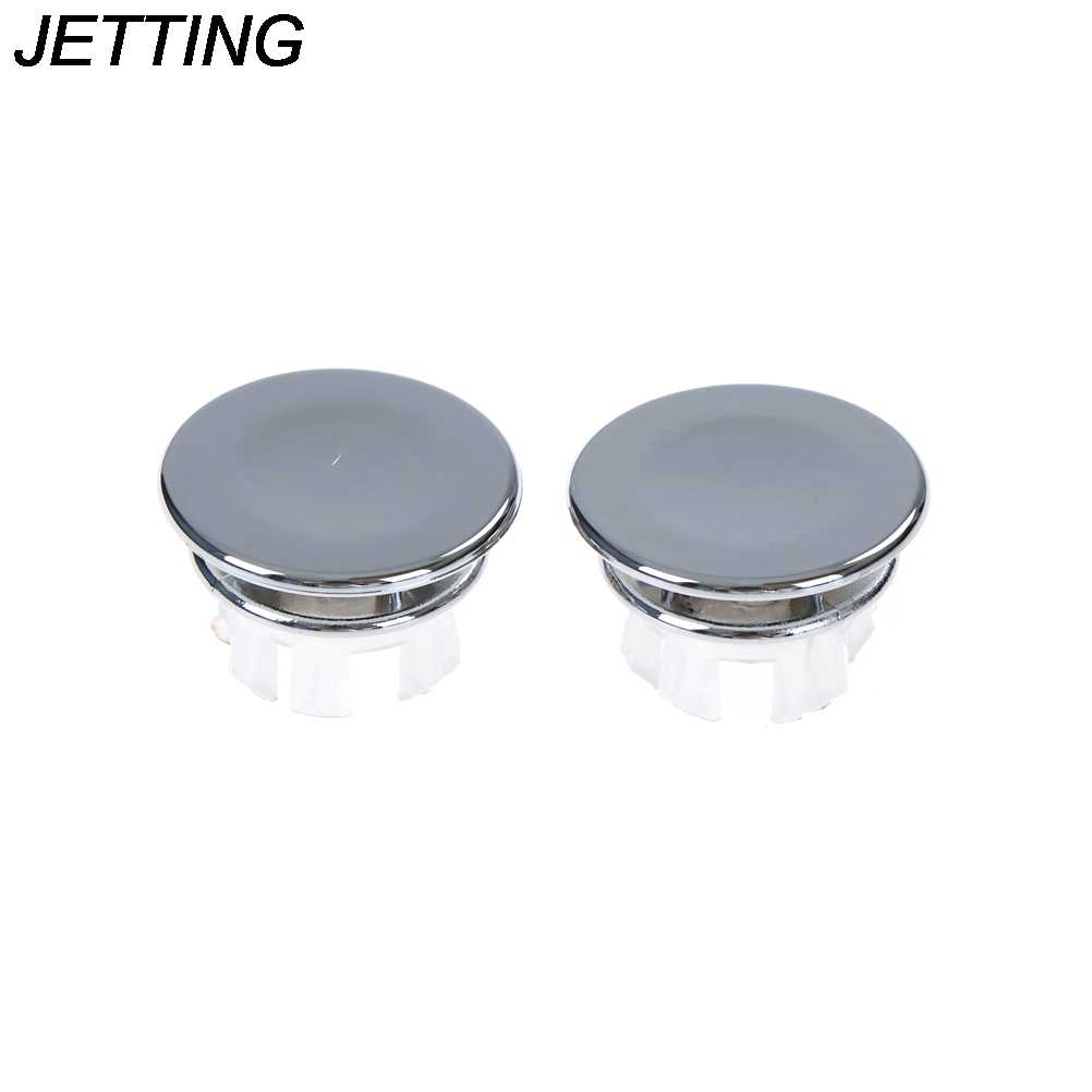 2pcs Overflow ring Basin Sink Round Overflow Cover Ring Insert Replacement Tidy Chrome Trim Bathroom Accessories