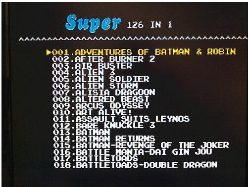 126 i 1 för Sega Megadrive Genesis Spelkort med Super Marioed Batman - Spel och tillbehör - Foto 2