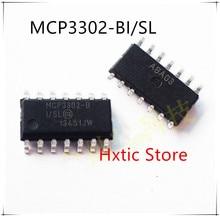 NEW 10PCS/LOT MCP3302 MCP3302BI MCP3302-BI MCP3302-BI/SL MCP3302-B SOP-14  IC