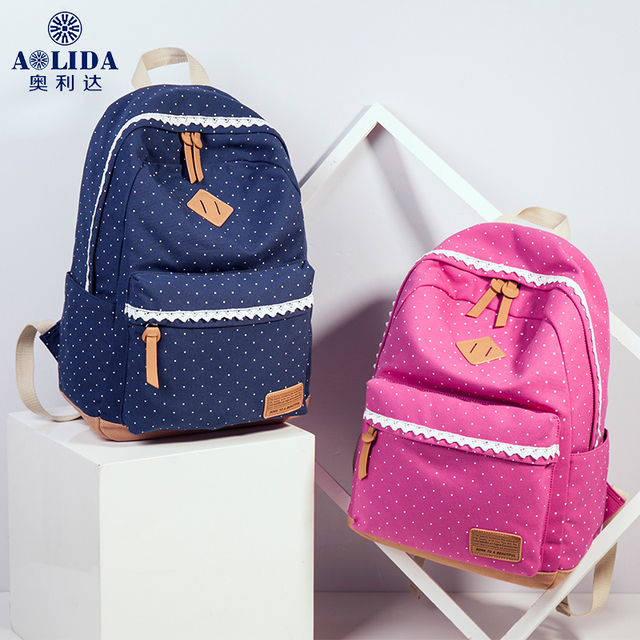 2018 The Latest Womens Canvas Travel Fashion Backpack Teen Girl