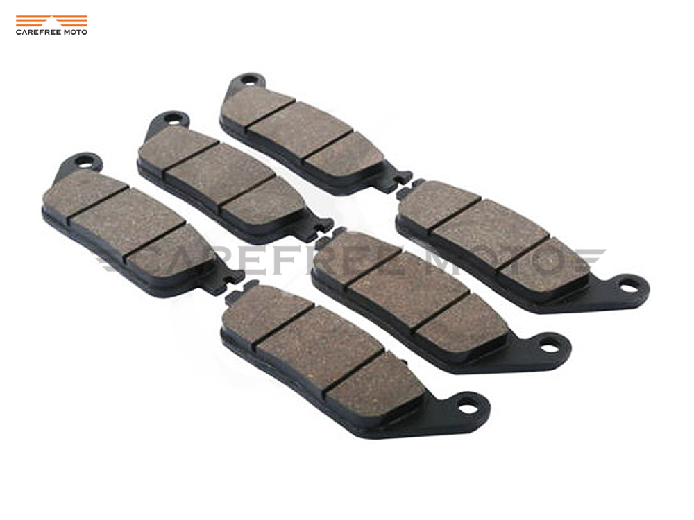 6 Pcs Motorcycle Front & Rear Brake Pads case for HONDA ST 1100 PAN EUROPEAN 1990-2000 GL 1500 FC6 1997 1998 1999 motorcycle front and rear brake pads for honda vt250fl spada castel1988 1990