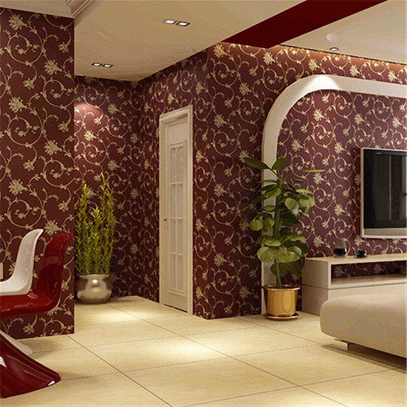 solid 3d background living wall bedroom warm european beibehang flooring works