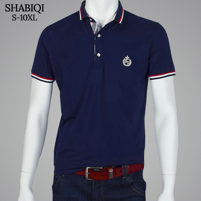 f27e76d3f6 SHABIQI Brand clothing 2018 New Men Polo Shirt Men Business   Casual solid  male polo shirt Short Sleeve Embroidery polo shirt