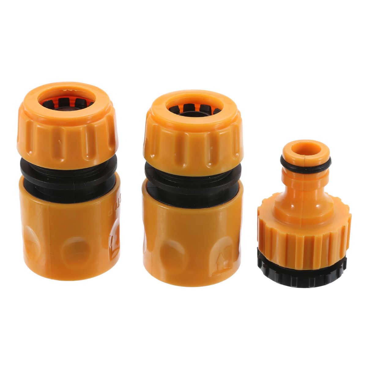 """3 sztuk szybkie złącze Adapter taśma kroplująca na wąż do nawadniania złącze z 1/2 """"3/4"""" kolczasty złącze narzędzie do nawadniania ogrodu żółty"""