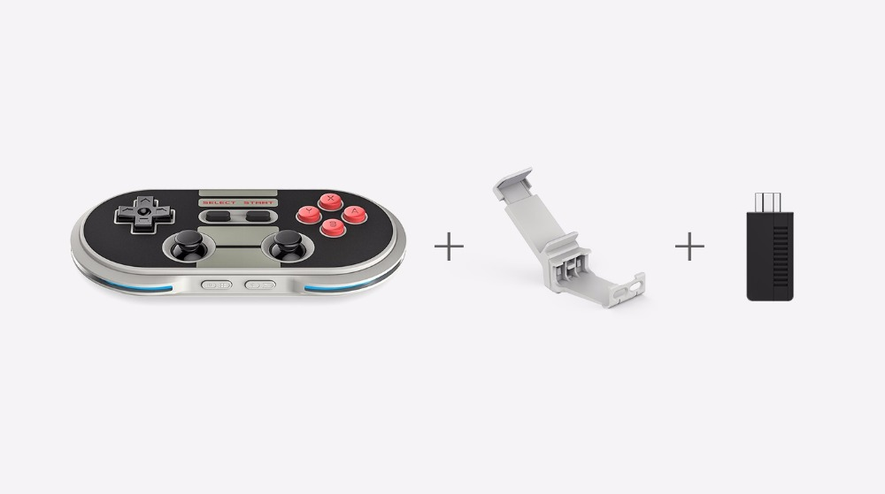8BitDo N30 Pro Classic Edition Wireless Controller Set with Bluetooth Retro Receiver Mini Support Switch Windows Steam Android цена и фото