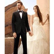 suits wedding groom tuxedo slim fit tailor dinner man custom made suit 2017 black dress high quality