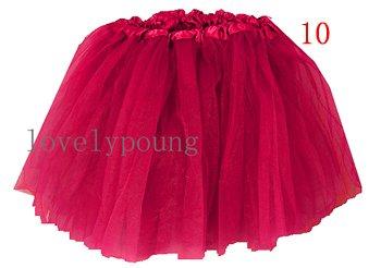 Дешевые юбка-пачка, юбка для девочки в акционной цене, девушки юбка - Цвет: hotpink
