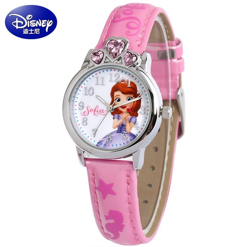 Luxury Brand 100% Genuine Disney Brand Watches Frozen Sophia Minnie Watch Fashion Luxury Watch Men Girl Wrist Watch Children's Watches