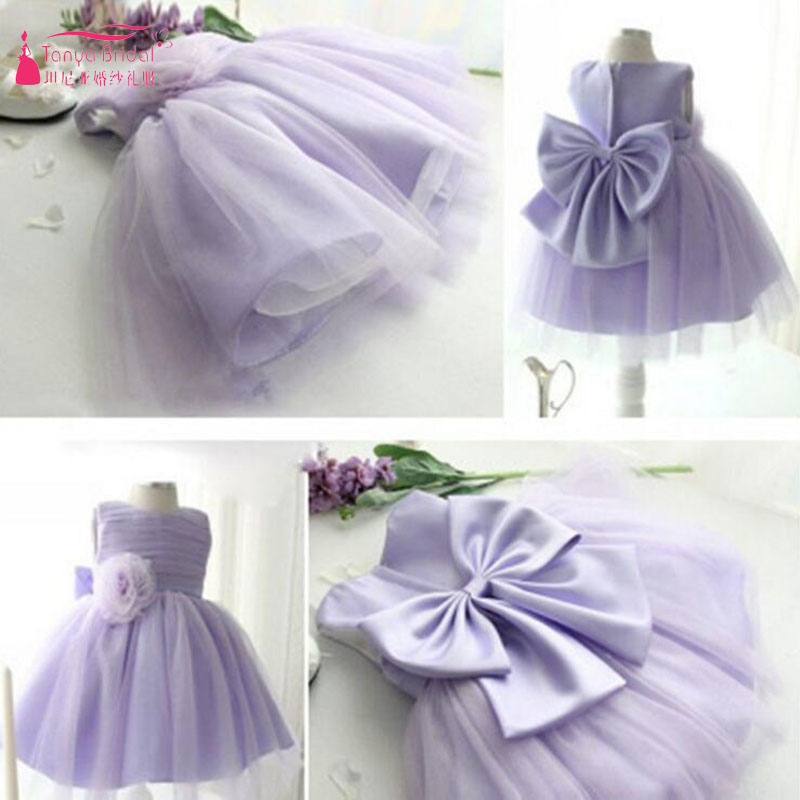 Lavender Tulle   Flower     Girls     Dresses   for Wedding Fairy Pageant Gowns Bohemian Kids Formal Wear Vestido De Festa ZF076