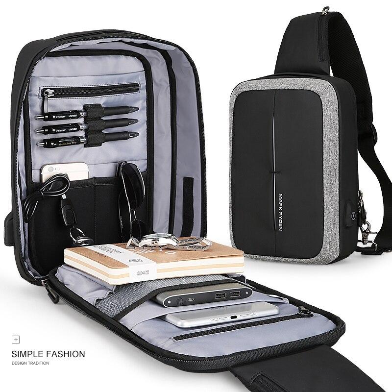 Mark Ryden nouveau sac à bandoulière pour hommes sac à bandoulière pour affaires sac à bandoulière de haute capacité Design de recharge USB - 6