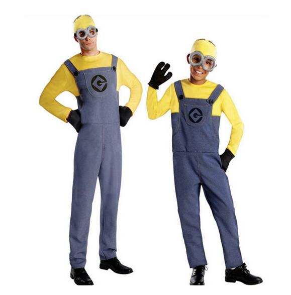 one full set boys despicable me minion movie cosplay clothing child halloween carnival fancy dress costumes
