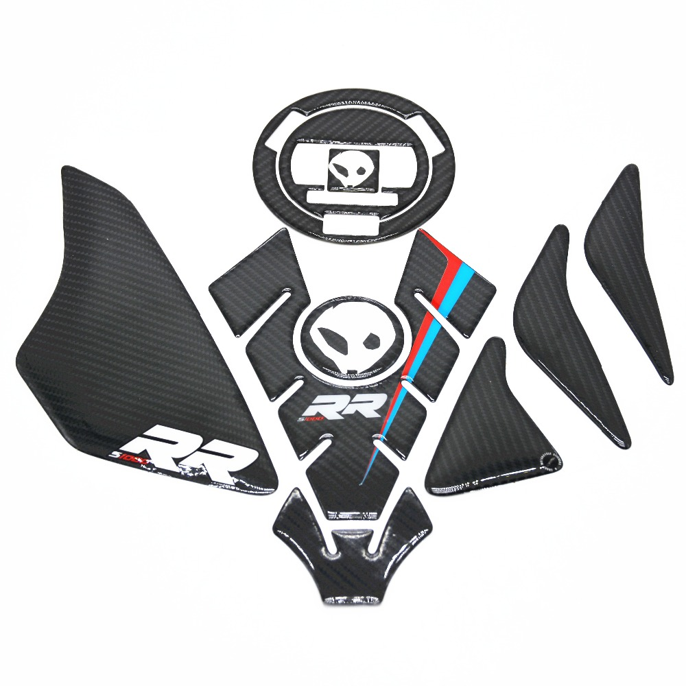 Free shipping Carbon 3D ADESIVI Sticker Decal Emblem Protection Tank Pad Cas Cap Fit BMW S1000RR kodaskin carbon 3d adesivi sticker decal emblem protection tank pad gas cap z1000 2012 2015