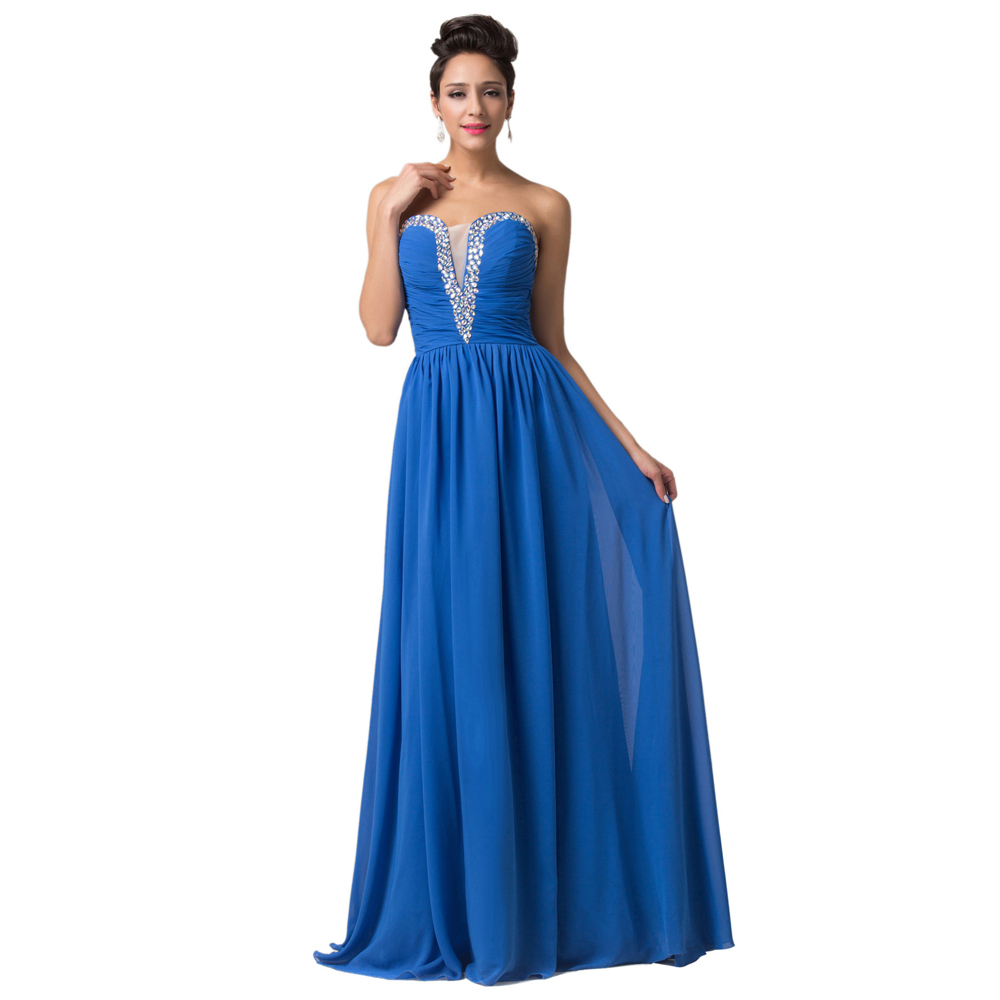 formal dresses for wedding fast shipping grace karin chiffon v neck royal 4317