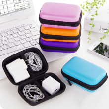 Portable Mini  Box Storage Square Case Earbuds Headphone SD Card Hold Case Storage Carrying Hard Earphone Bag original kz earphone case fiber zipper headphones hard case storage carrying pouch bag sd card box portable earphone bag