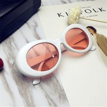 UVLAIK NIRVANA Kurt Cobain Sunglasses Men Women Clout Goggles Sunglasses Retro Oval Sun Glasses UV400 Design Women's Glasses 8
