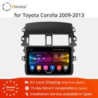 Ownice K1 K2 K3 Android 9,0 Octa Core автомобильный Радио плеер с gps навигатором 2G/32G для Защитные чехлы для сидений, сшитые специально для Toyota Corolla 2009 2010 2011 2012