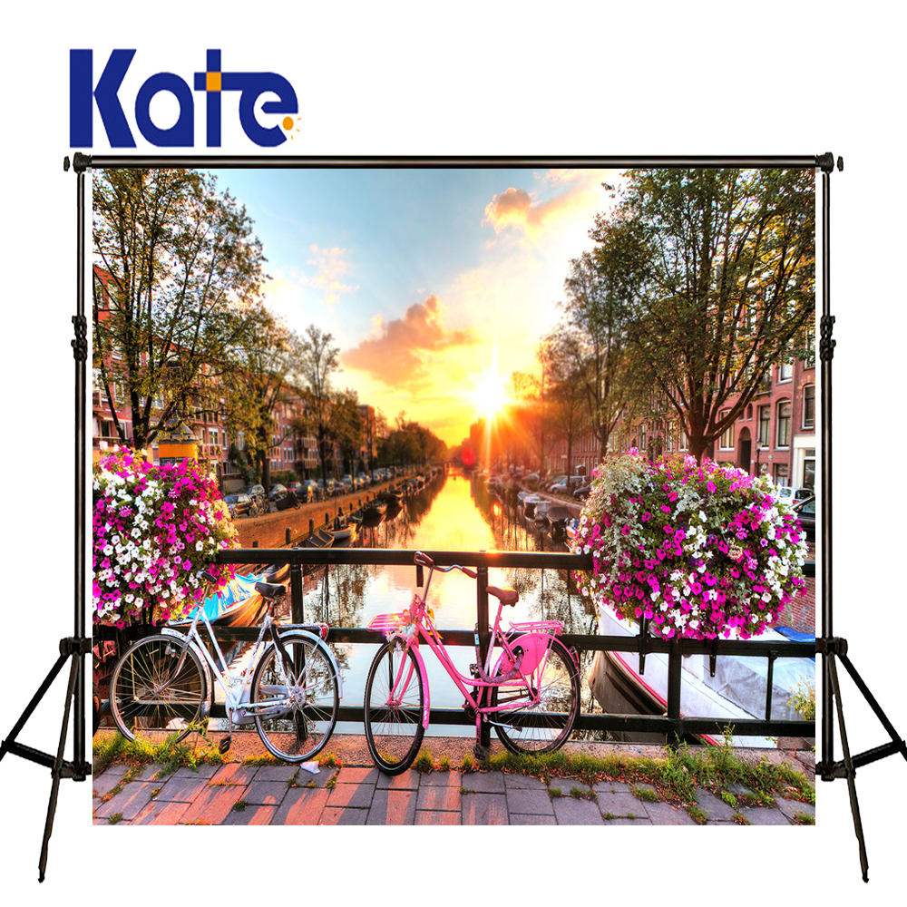 KATE Photography Backdrop City Scenery Wedding Backdrops Spring Outdoor Wedding Background Sunset Cloud Backdrop for Photocalll kate photo background scenery