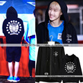GOT7 surrounding Mark Tuan Mark airport men with hooded cardigan sweatshirt  jacket zipper