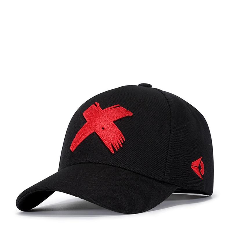Baseball Cap Men Dad Hat Women Casual Embroidery X Caps Bend Visor Adjustable Cotton Male Bone Black Hat Bone Garros
