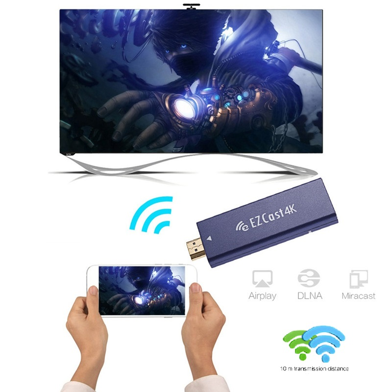 New EZCast 4K TV Dongle Dual Band 2 4GHz 5GHz WiFi Miracast Airplay DLNA TV Stick