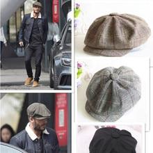 Tapa octogonal newsboy Beret sombrero senderismo Otoño e Invierno sombrero  para hombres internacional Superstar Jason Statham 14abb84244a