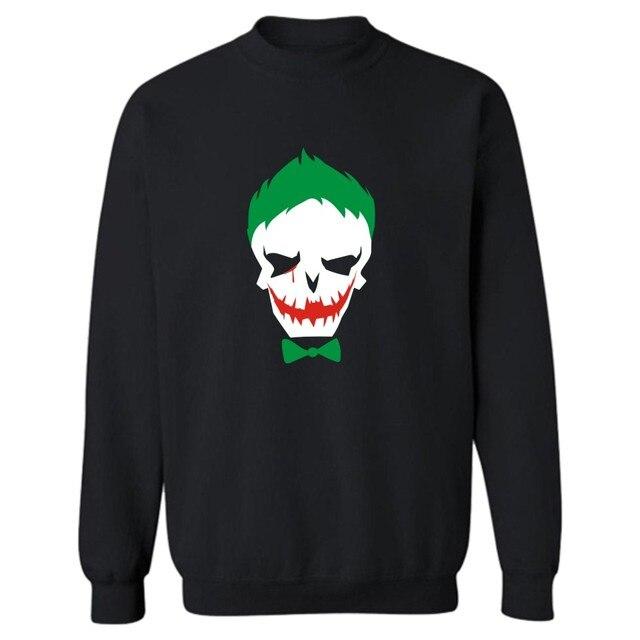 Joker Suicide Squad Fashion Harajuku Sweatshirt Hoodies in Harley Quinn Punk Cotton Mens Hoodies and Sweatshirts Brand 4XL