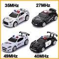 Мини RC Дистанционным Управлением Micro Гоночный Автомобиль Полиции Сирена Свет Cars Контроллер Игрушка в Подарок RCS Доставка