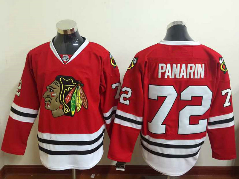 e8b325d8960 2016 Chicago Blackhawks Stadium Series Jersey Panarin White Red Artemi Panarin  Jersey 72 Authentic Hockey jersey Cheap Stitched-in Hockey Jerseys from ...