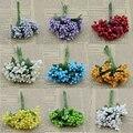 Barato 12 pcs artificial bud baga bacca flor estame para decoração de casamento diy scrapbooking flores artificiais decorativas