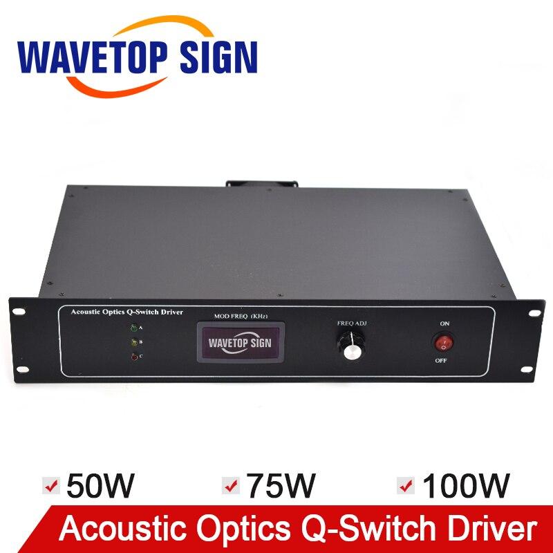 Q-acoustique q-switch Driver 50 W 75 W 100 W utilisation pour Machine de marquage Laser YAG QSD alimentation acousto-optique