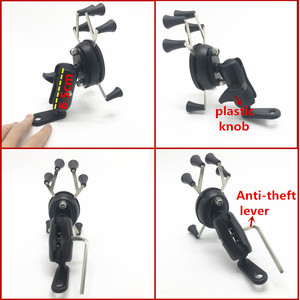 Image 2 - Aluminum Motorcycle Handlebar Rear Mirror Mount Rail X Grip for Gopro Cell Phone Smartphone Holder for iPhone 8 7 7 Ram Mounts